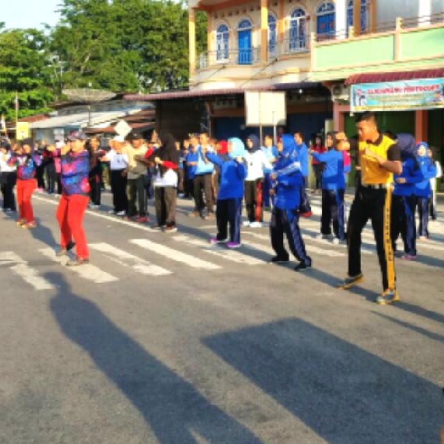 Imigrasi Selatpanjang Bersama Master Class Aerobic Dari Jakarta,Berbagi Sehat Semua Kalangan