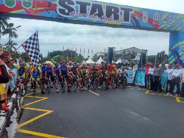 Etape 1 Tour De Siak, Tempuh Perjalanan 154,18 KM Siak-Dayun