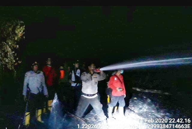 AKBP Taufiq Lukman Nurhidayat SIK MH:  Situasi Saat Ini Api Sudah Padam dan Proses Pendinginan
