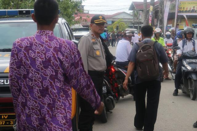 Ratusan Personil Polres Inhil Amankan Deklarasi Wardan-SU