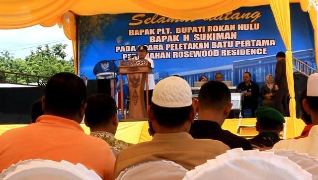 Plt Bupati Rohul Groundbreaking di Perumahan Rosewood Residence