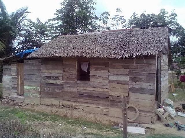 Ari Tinggal Pada Gubuk Berdinding Kayu Beratap Rumbia