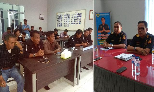 Bahas Penyeludupan, PWRI-Bersatu Kepulauan Meranti Silaturahmi Dengan Wilker Bea dan Cukai