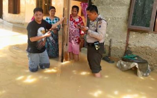 Akibat Hujan Deras 80 Rumah di Muara Lembu Terendam Banjir