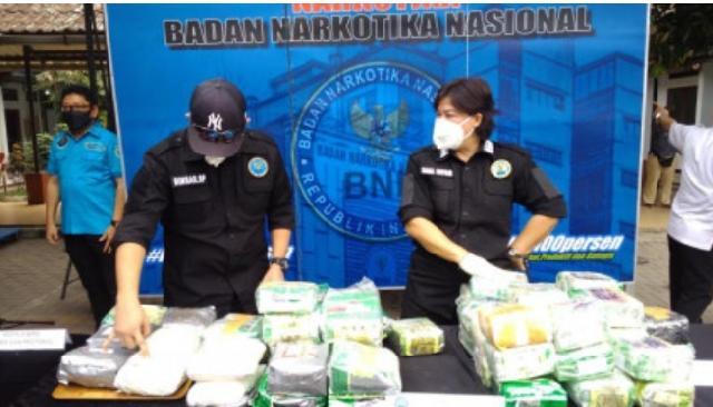 BNN Kembali Musnahkan Sabu Asal Tangkapan di Riau
