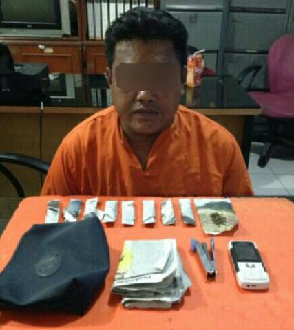 Pengedar Ganja Di Tembilahan Tak Berkutik Ditangkap Polisi