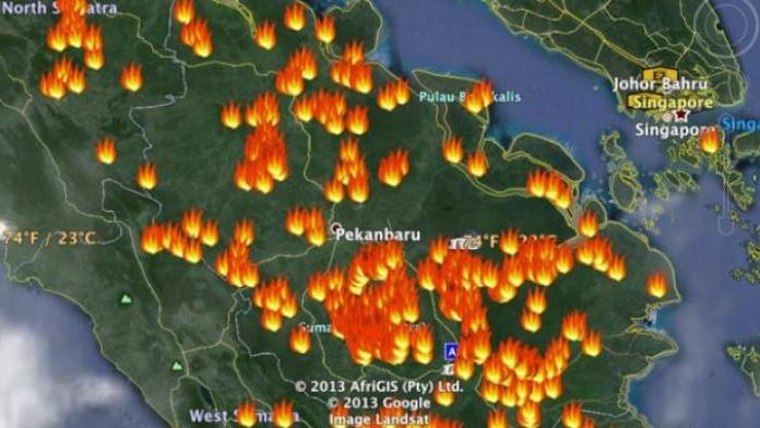 Hari ini Riau Sumbang Hotspot Terbanyak di Sumatera