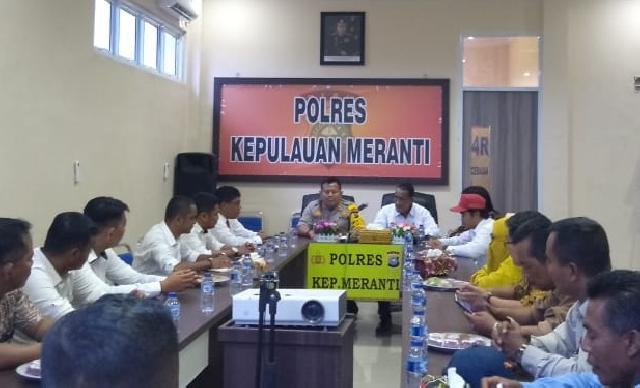 Tingkatkan Sinergitas LAN Kepulauan Meranti Silaturahmi ke Mapolres Meranti