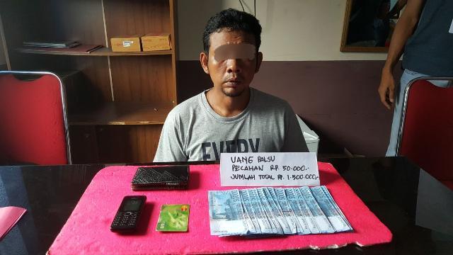 Apes, Pria Asal Tanjung Balai Karimun, Kepri Ditangkap di Tembilahan Karena Kantongi Uang Palsu