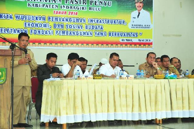 Jalan dan Pelayan Kesehatan Mengemuka dalam Musrenbang Kec Pasir Penyu & Lubuk Batu Jaya