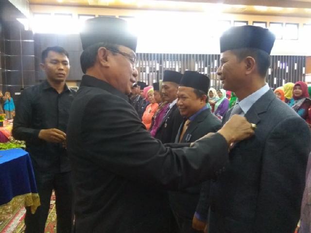 Pemkab Inhil Gelar Penganugerahan Tanda Kehormatan Satyalancana Karya Satya 2018