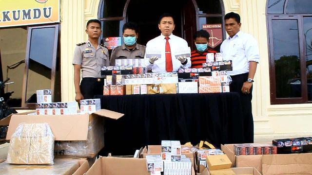 Sebanyak 4.142 Bungkus Rokok Tanpa Cukai Diamankan Satresrim Polres Rohul