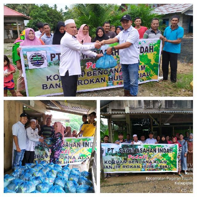 PT SAI Turun Gunung Bantu Korban Banjir Kota Intan, Salurkan Bantuan Pangan dan Sembako