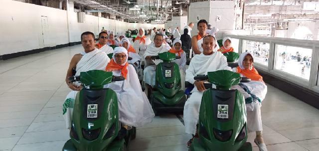 Jema'ah Haji Usia Lanjut Dapat Manfaatkan Scooter Untuk Tawaf dan Sa'i