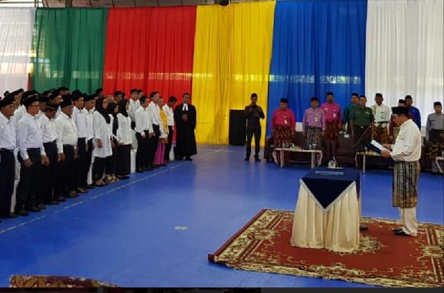 Sekda Meranti Lantik Anggota BPD di 28 Desa Se-Kabupaten Kepulauan Meranti