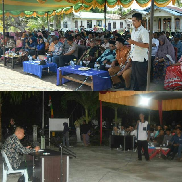 Muzamil Baharuddin Melakukan Reses  Di Dua Desa,Sekaligus Mendiskusikan Aspirasi Antara Masyarakat