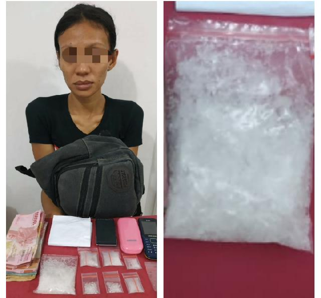 Polisi Inhu Tangkap Lagi Wanita dan BB Narkoba di Airmolek