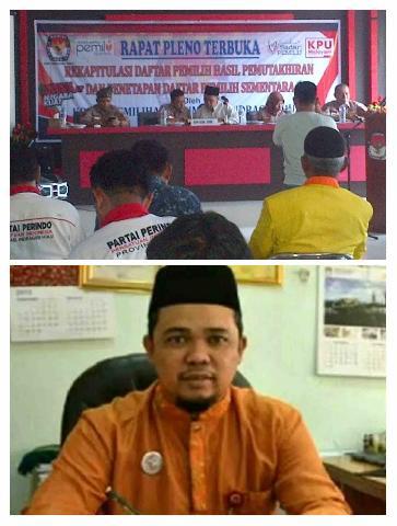 KPU Inhu Tetap Gelar Rapat Pleno Di Hari Raya