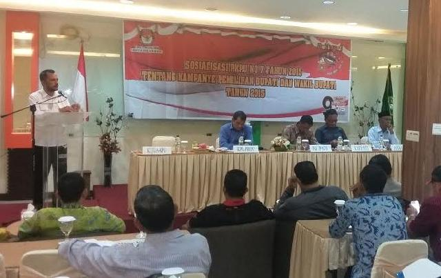 KPU Lakukan Bimtek Pembahasan PKPU No 7 Tahun 2015
