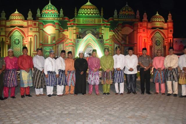 Pimpinan DPRD Meranti Hadiri Pembukaan STQ Kecamatan Rangsang ke 19