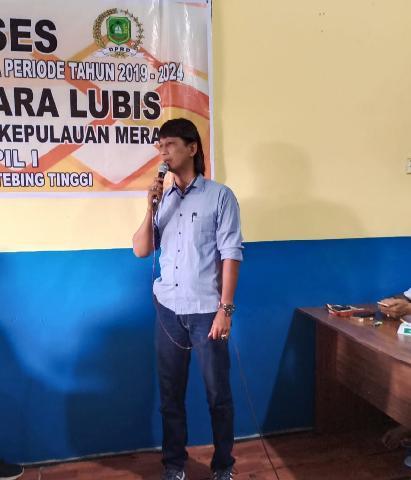 Tampung Aspirasi Masyarakat Anggota DPRD Meranti Dedi Yuhara Lubis Gelar Reses Perdana