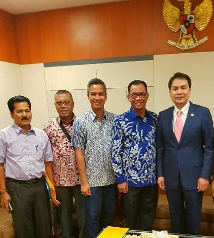 Temui Ketua Banggar DPR RI, Bupati Suyatno Minta Jalan Nasional Ujung Tanjung-Bagansiapiapi di Rigid