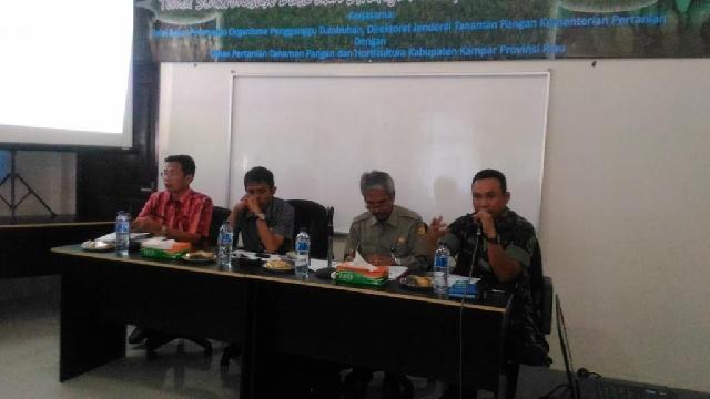 Dandim 0313/Kampar Hadiri Rapat Pertemuan Koordinasi Upsus Pajale