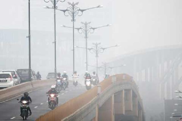 Wah Gawat... Sudah Empat Hari, Warga Kuansing Hirup Udara Tak Sehat