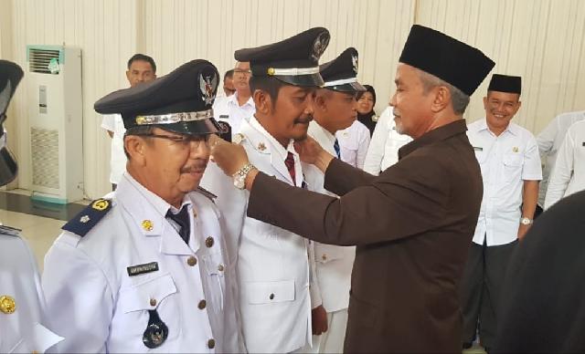Wakil Bupati Meranti Lantik 7 Pj.Kepala Desa Harapkan Kades Mampu Ciptakan Kondusifitas