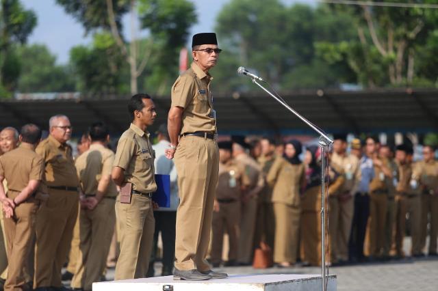 Asisten III Sekda Intruksikan Lakukan Cek Kehadiran Antisipasi Pegawai Tak Ikut Upacara Senin Pagi