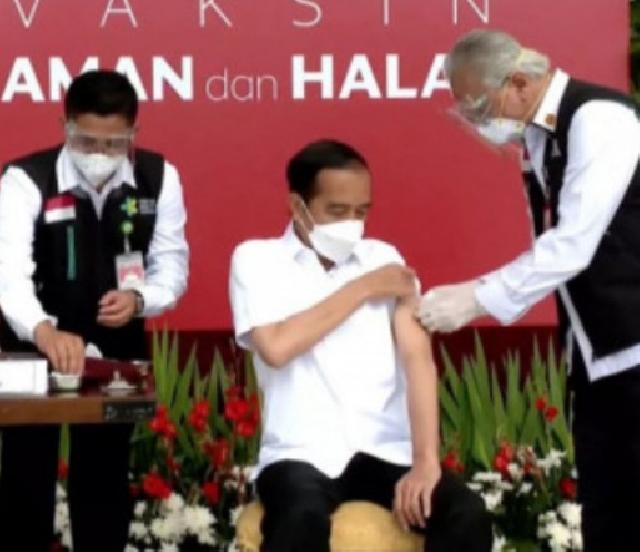 Komentar Presiden Jokowi Usai Divaksin Covid-19: Tidak Terasa