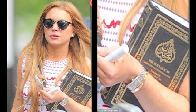 Bawa Al-Quran, Lindsay Lohan Masuk Islam?