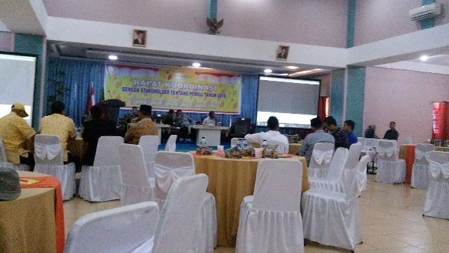 Panwaslu Meranti Gelar Rapat Koordinasi Stakeholder Tentang Pemilu Tahun 2019
