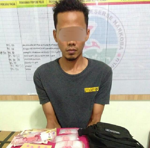 Miliki Shabu, Karyawan PT Haleyora Power Dibekuk Sat Res Narkoba Polres Inhu