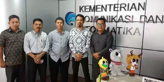 Aktifkan Radio Kuansing FM, Bamus DPRD Kuansing dan Diskominfo Konsultasi ke Dirjen Penyiaran RI