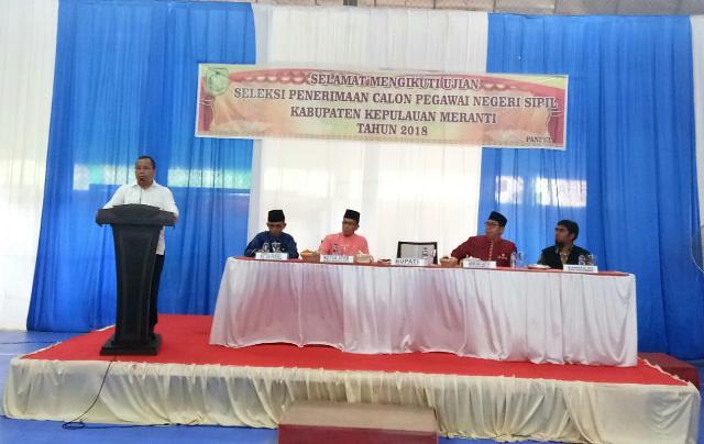 Bupati Irwan Buka Secara Resmi Tes CPNS Kepulauan Meranti 2018