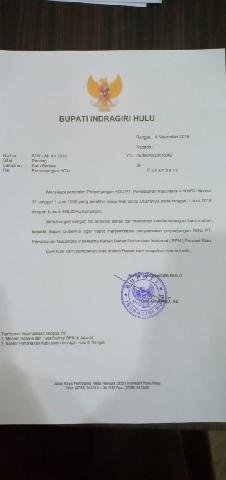 Proses Surveyor Kadastral Sudah Dilakukan di Lahan HGU PTPN V, Ini Keterangan Surat Bupati Inhu