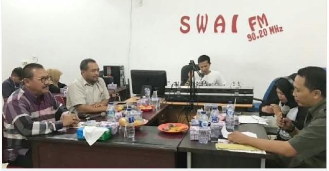 Bahas Kelestarian Harimau di Radio, Diskusi Pemkab Inhu dan Balai TNBT