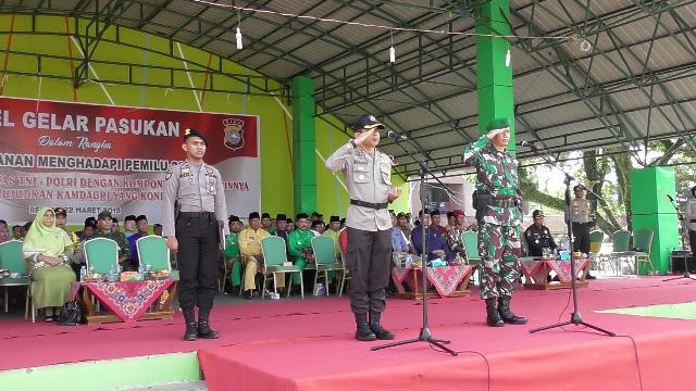 Gelar Apel Pengamanan Pemilu 2019, Ini Pesan Kapolres Inhu Dalam Sambutannya