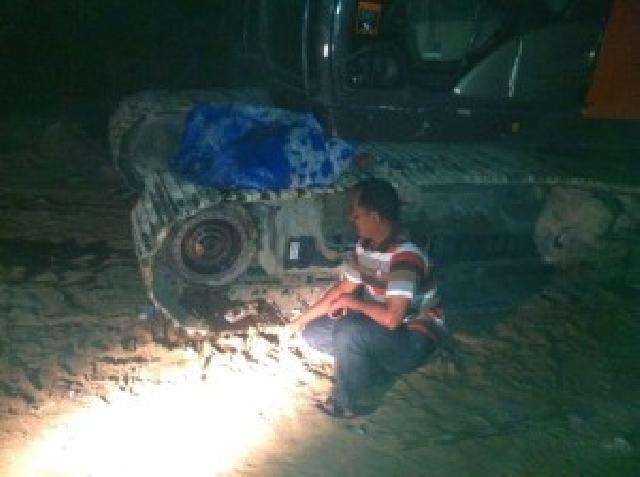 Polsek Kerumutan Buru Kawanan Perampok Onderdil Alat Barat Milik PT. Tripa Abadi