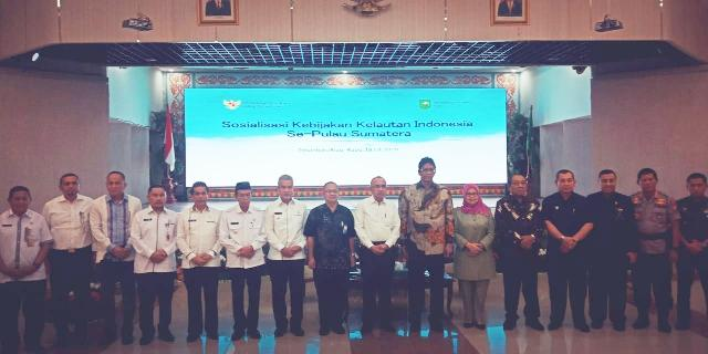 Wakil Bupati Ikuti Kegiatan Sosialisasi Perpres 16 Tahun 2017 Kebijakan Kelautan Se-Sumatera