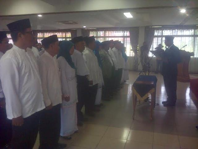 Walikota,  Lantik Pengurus DPC FKDT Kota Pekanbaru
