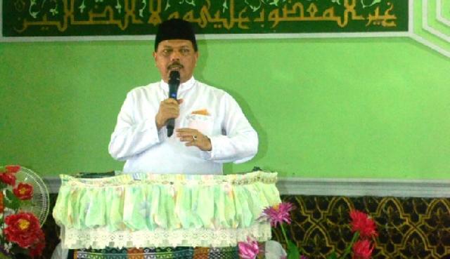 Sekda Inhil, Said Syarifuddin Hadiri Istighotsah di Kecamatan Gaung