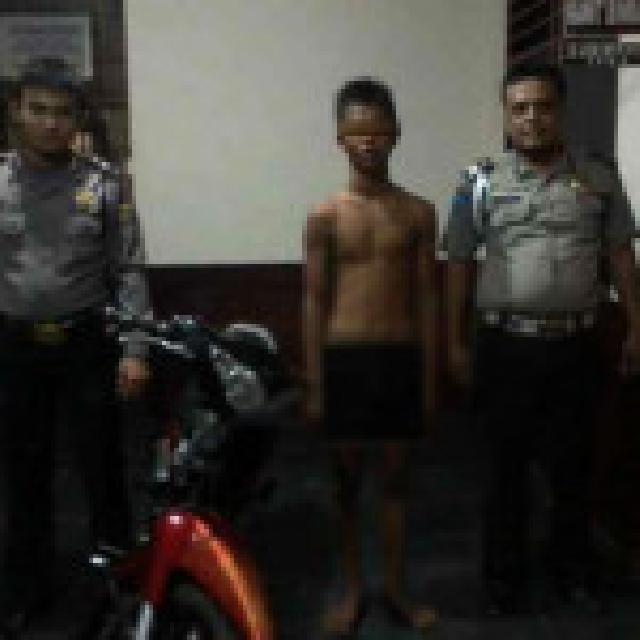 Curi Motor, Pemuda Pengangguran di Inhil Diringkus Polisi