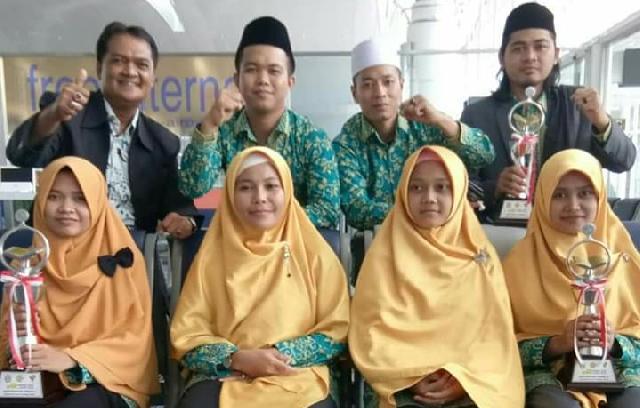 Zakifri: Kaligrafi Rohil Sumbang 11 Poin Untuk Kalifah Riau MTQ Nasional XXVIl di Medan