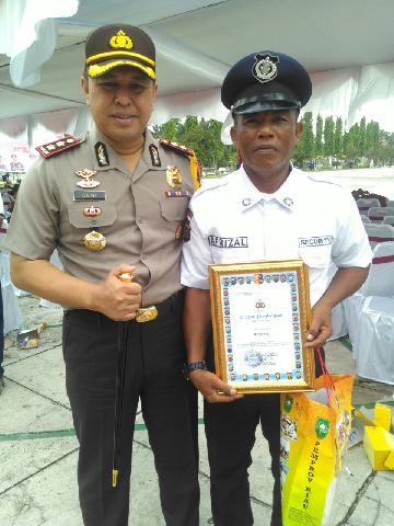 Kapolres Kampar Bangga, Satu Orang Satpam Kampar Terbaik Se-Riau