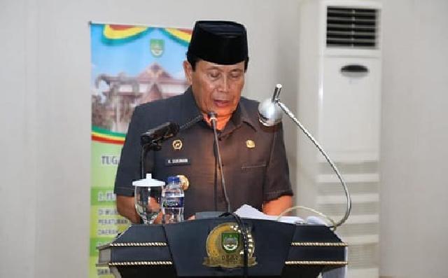 Bupati Sukiman Sampaikan LKPj APBD 2018, DPRD Lakukan Pembahasan
