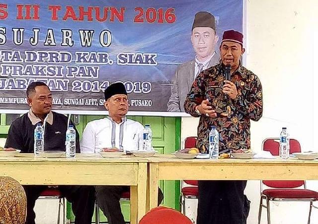 Anggota DPRD Siak Sujarwo Serap Aspirasi Masyarakat Dalam Reses ke III